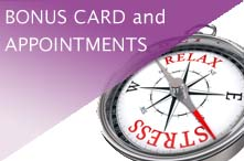 more about appointments, bonus cards and gift certificates